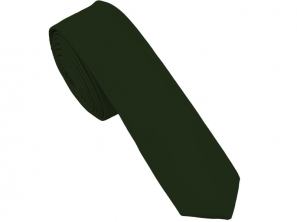 Bottle Green Satin Skinny Tie