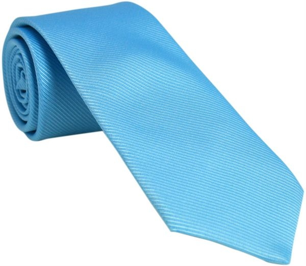plain aqua blue tie with free and fast uk delivery