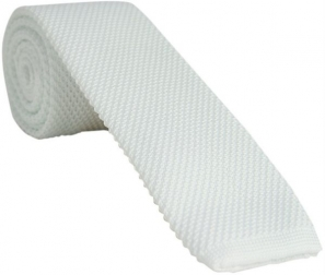 White Knitted Tie