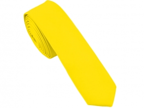 Yellow Satin Skinny Tie