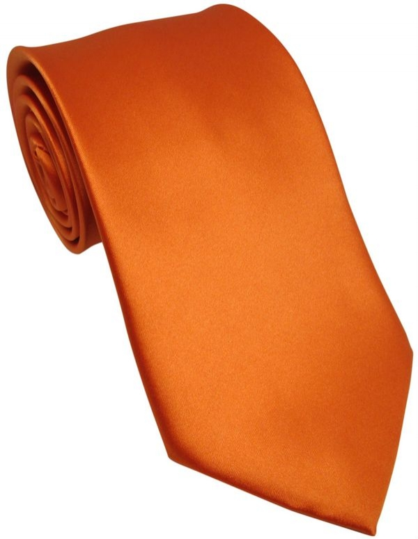 burnt orange tie with free and fast uk delivery