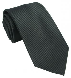 Plain Black Silk Tie