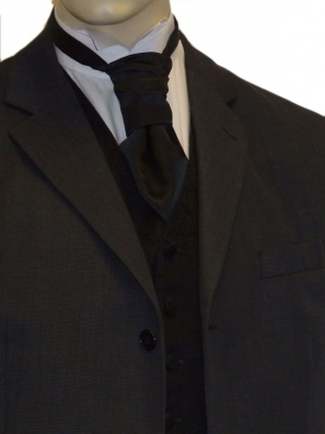 Black Satin Cravat