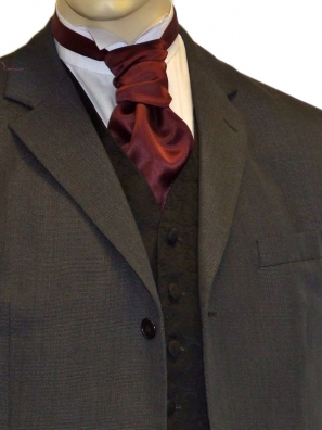 Burgundy Satin Cravat