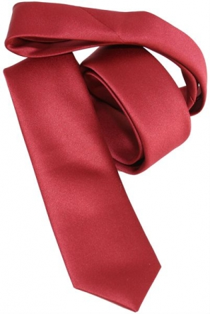 Dark Red Skinny Designer Tie