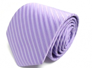 Lilac Tie with Satin Stripes