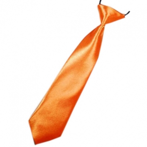 Orange Boys Tie