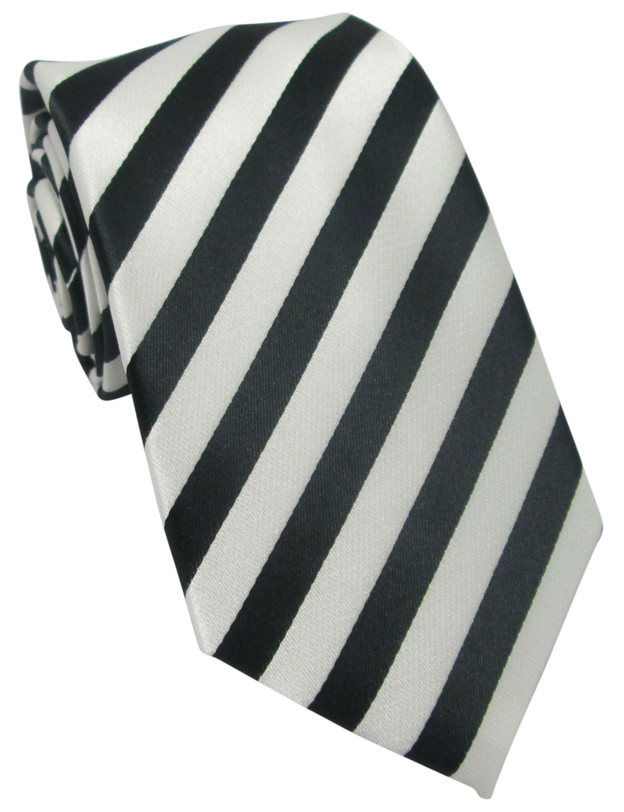 Black and White Stripes Tie