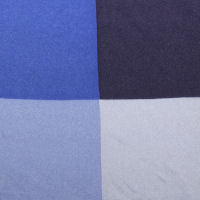 Blue 4 Way Silk Pocket Square