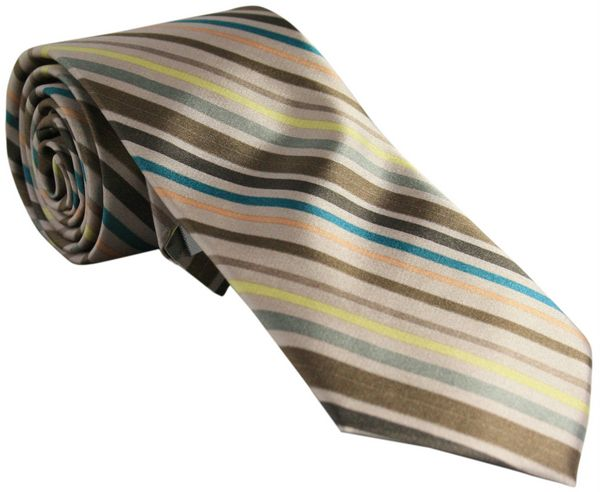 Brown Striped Tie
