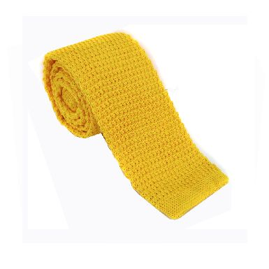 Burnt Yellow Knitted Tie