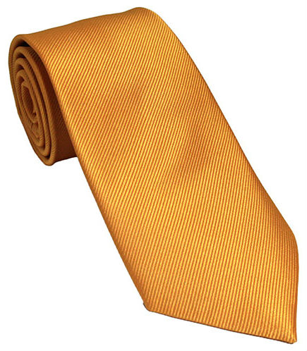Burnt Yellow Silk Tie
