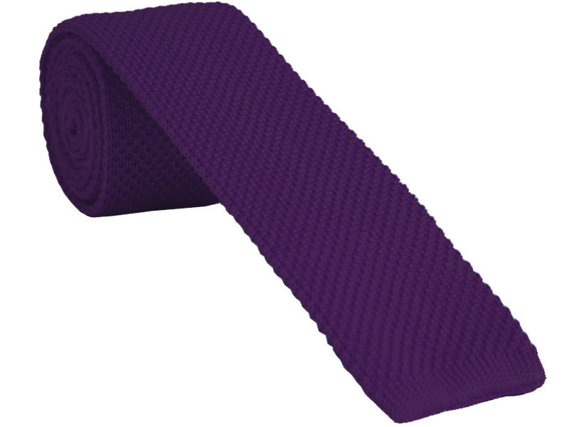 Cadbury Purple Knitted Tie