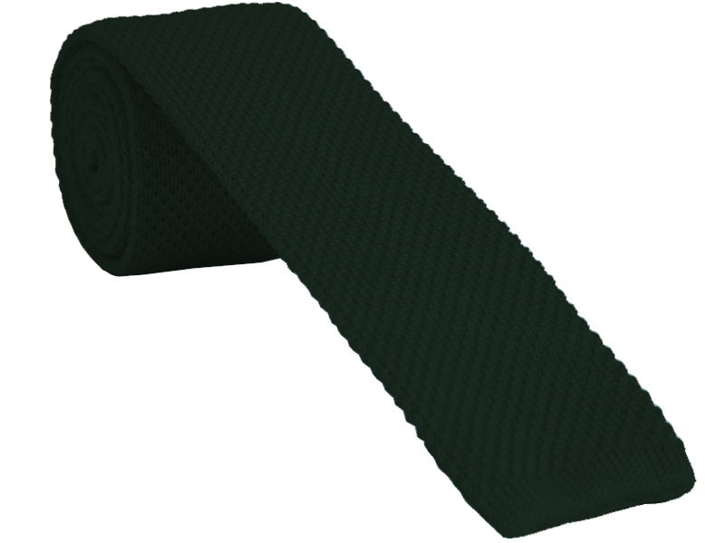 Dark Green Knitted Tie