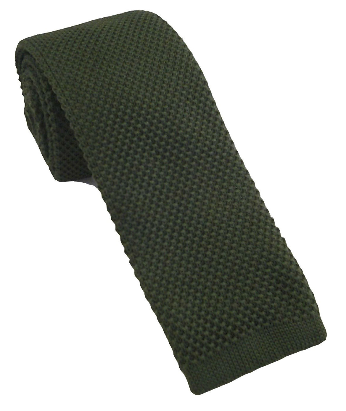 Dark Olive Green Knitted Tie