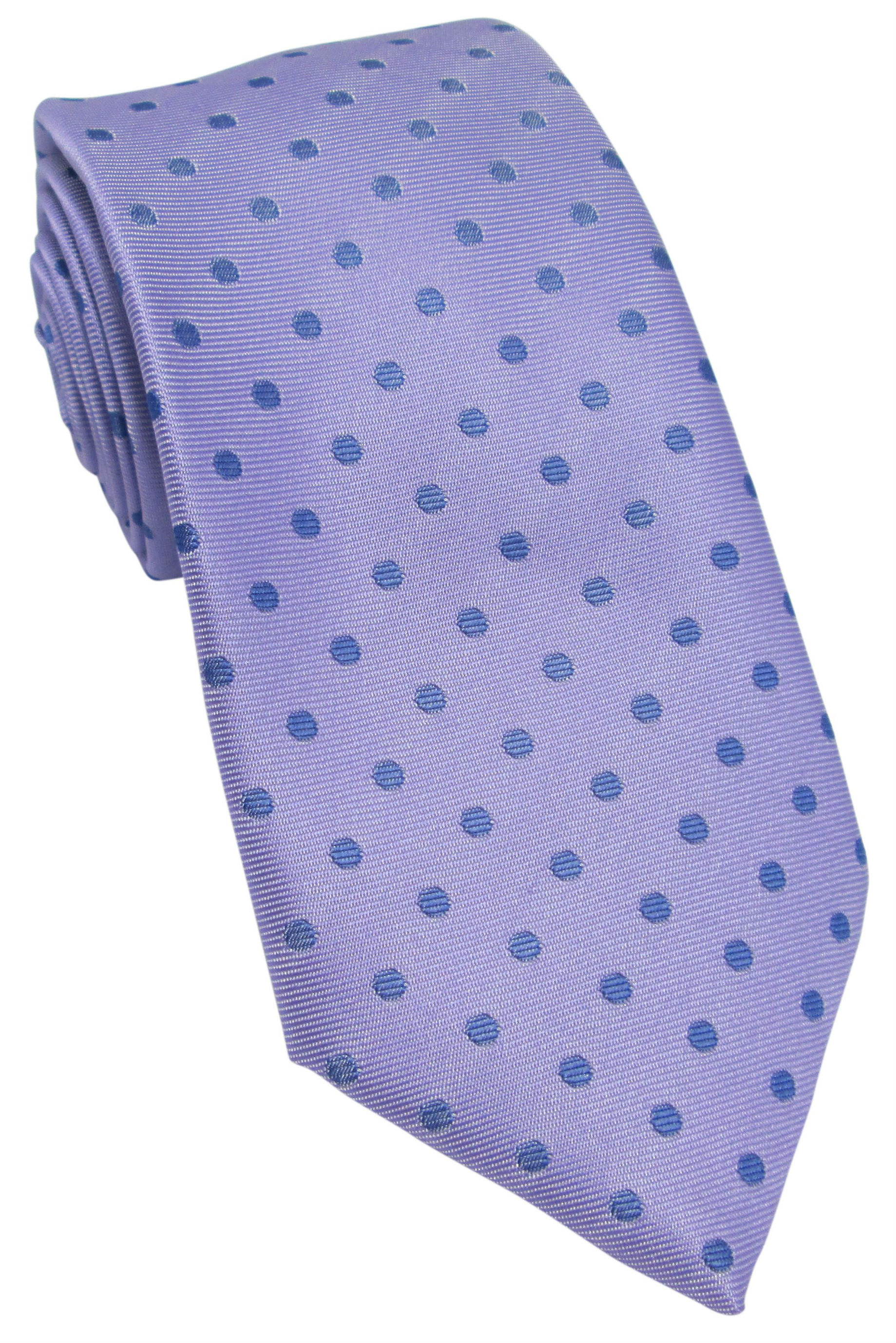 Lilac with Blue Polka Dot