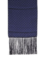 Navy Polka Dot Silk Scarf