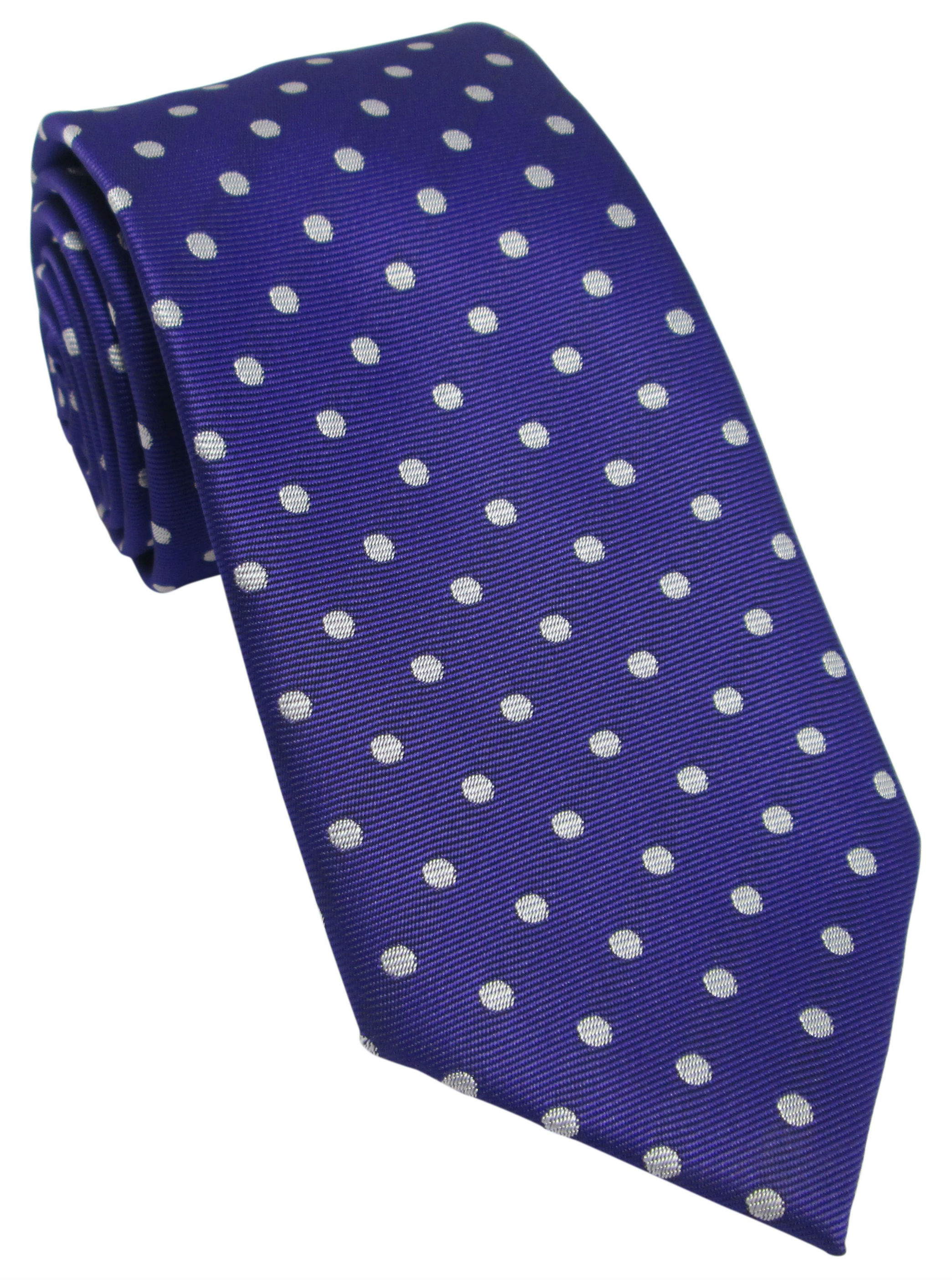 Purple with White Polka Dot Tie