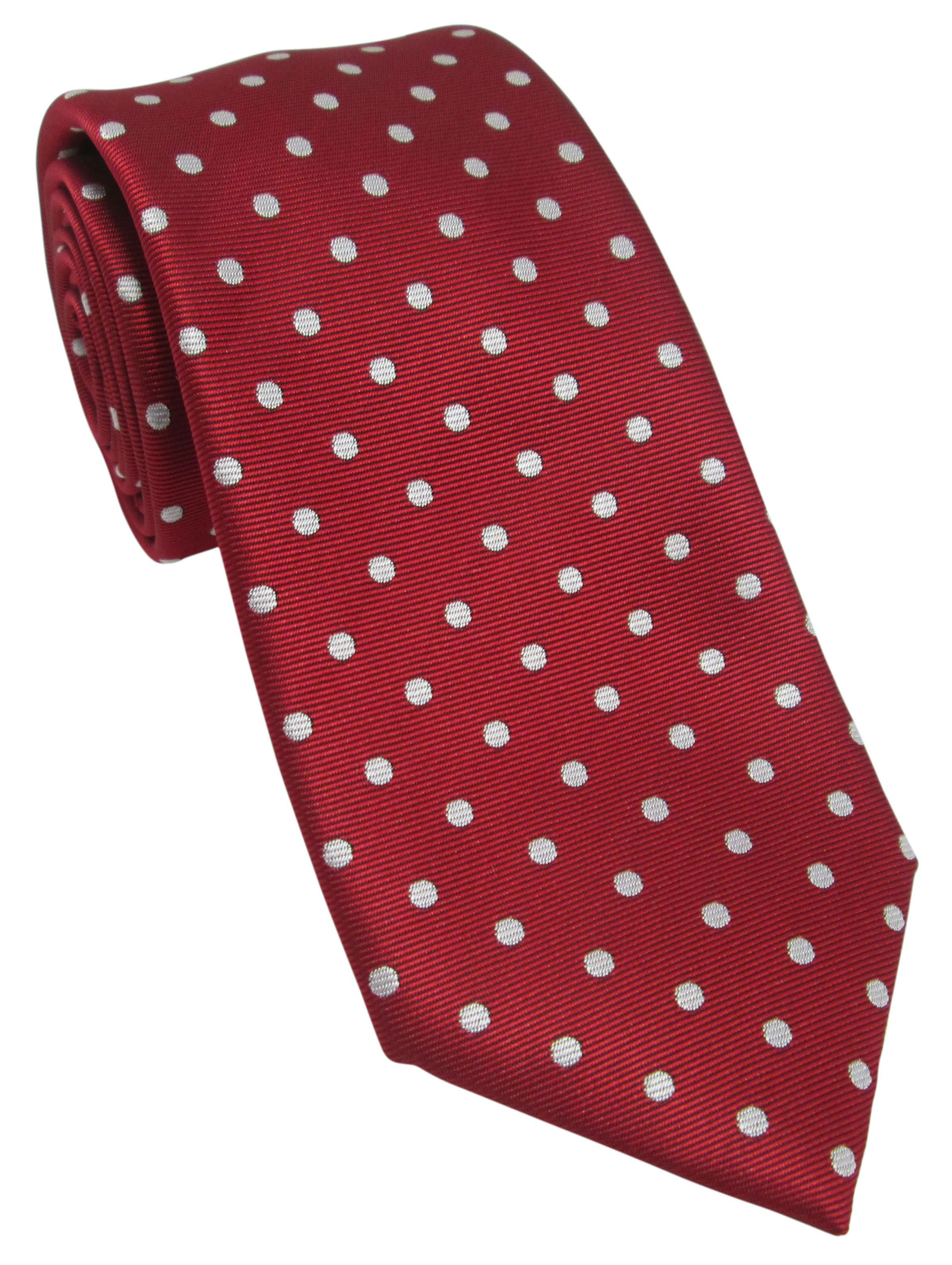 Red with Polka Dot Tie