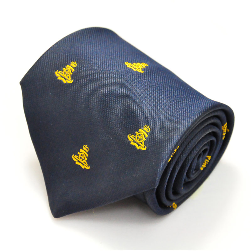 Royal Artillery Gold Gun On Navy Regimental Tie
