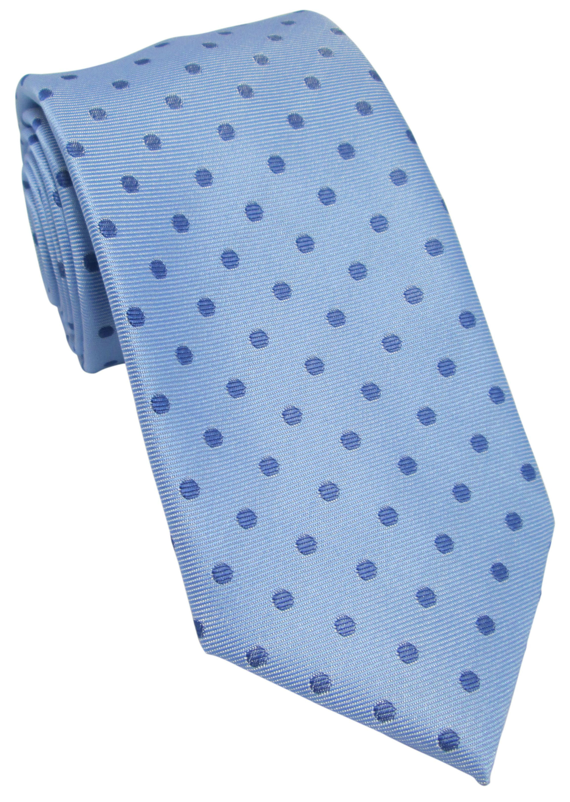 Sky Blue Tie with Blue Polka Dot