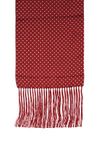 Wine Polka Dot Silk Scarf