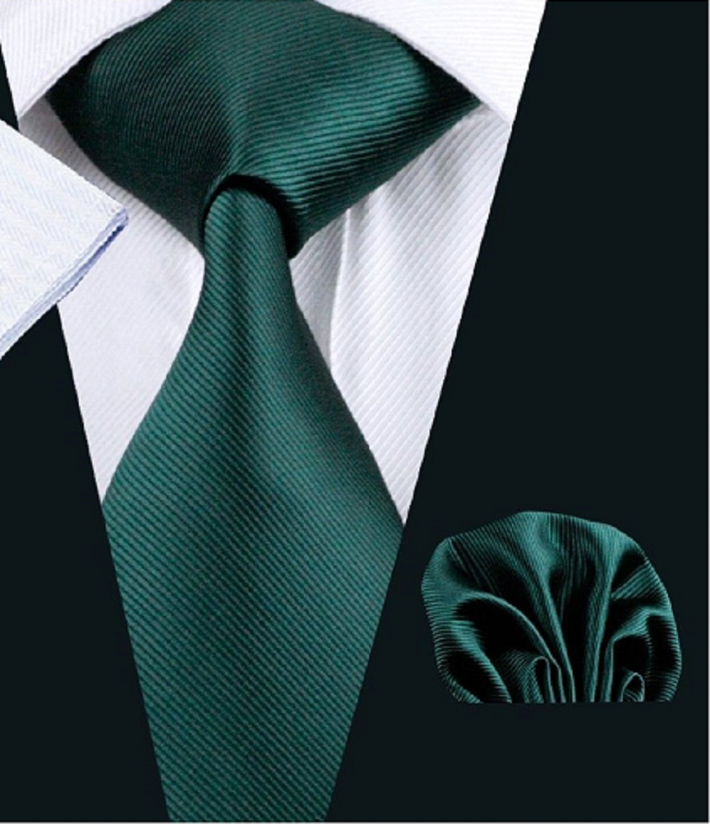 Jade Green Silk Tie with Matching Pocket Square