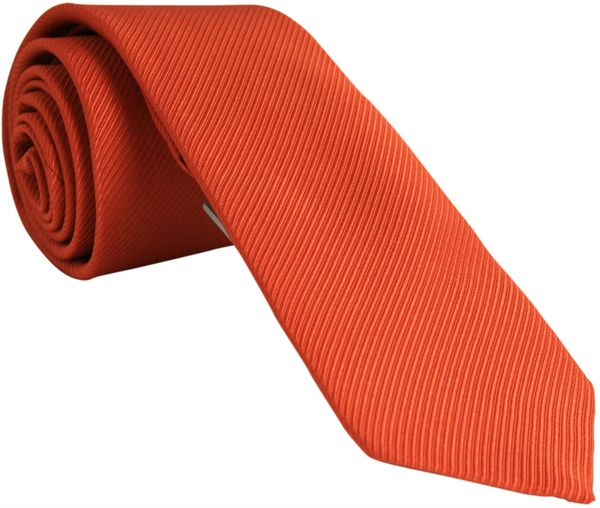 Plain Burnt Orange Tie
