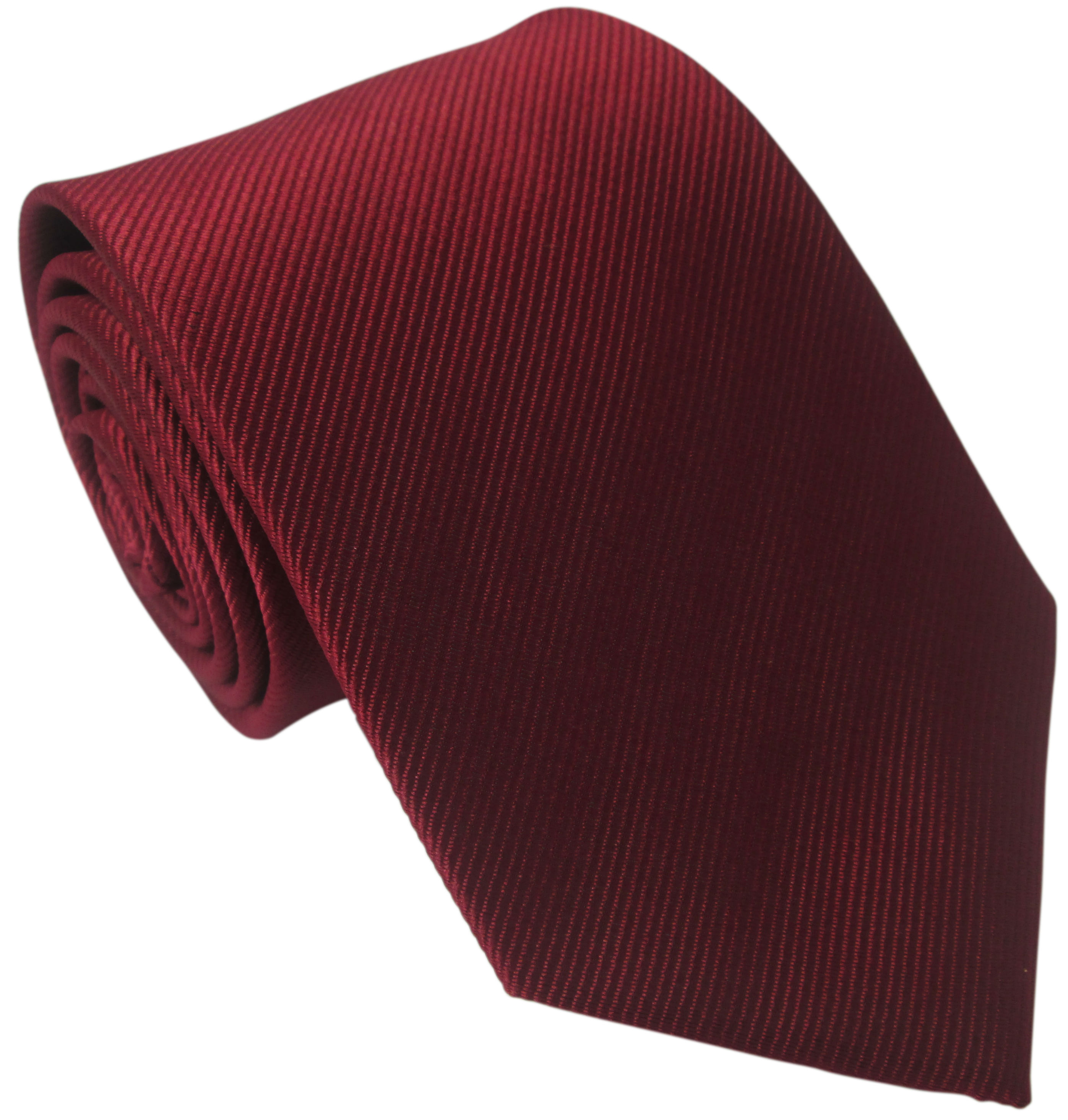 Dark Red Silk Tie