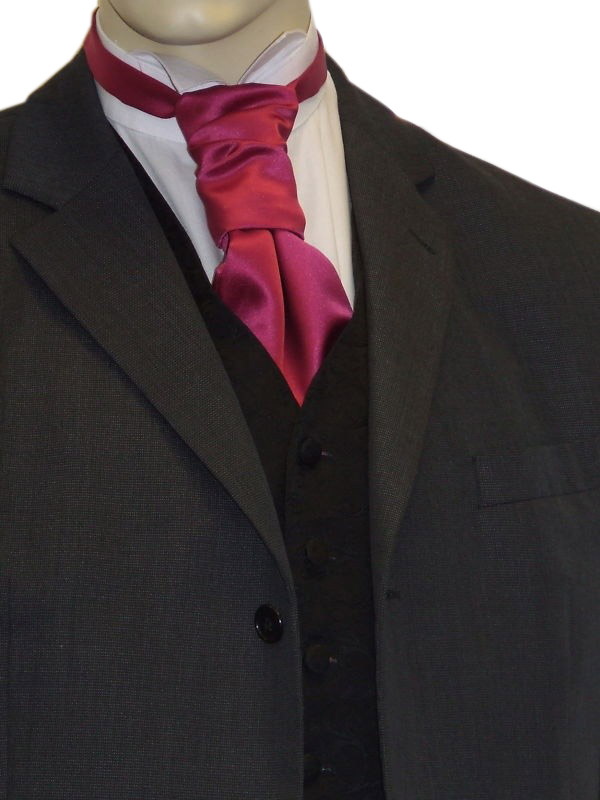 Fuschia Satin Cravat