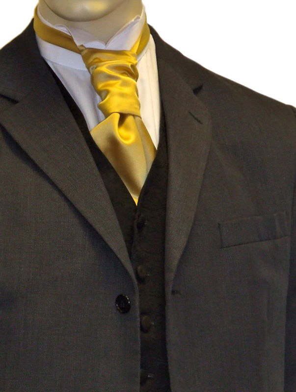 Gold Satin Cravat