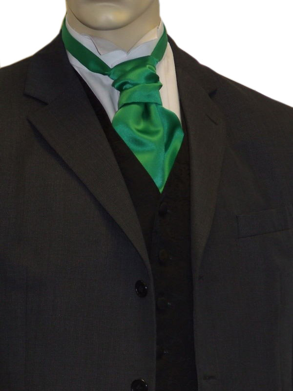 Green Satin Cravat