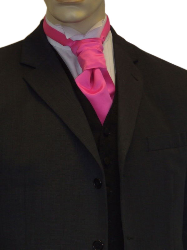 Hot Pink Satin Cravat