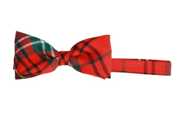 Morrison Red Tartan Wool Bow Tie