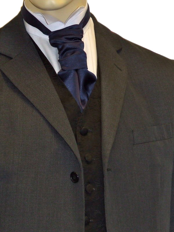 Navy Satin Cravat