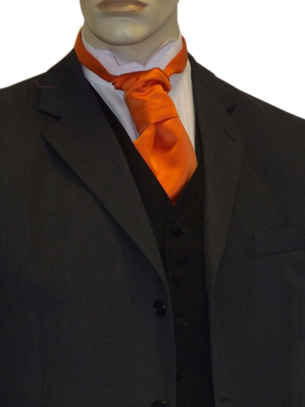 Orange Satin Cravat