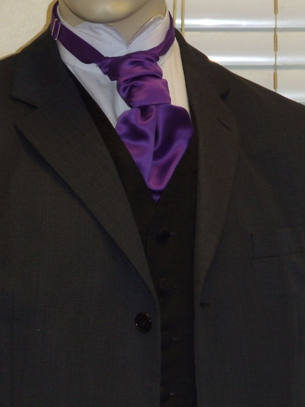 Purple Satin Cravat