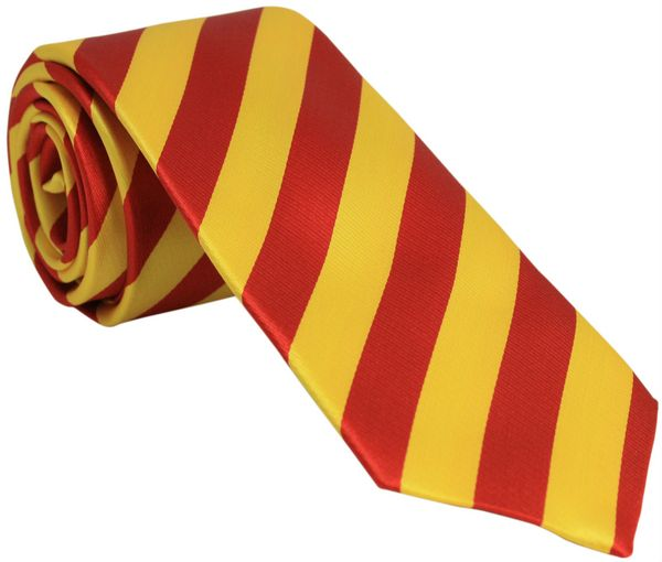 Red and Yellow Silk Tie