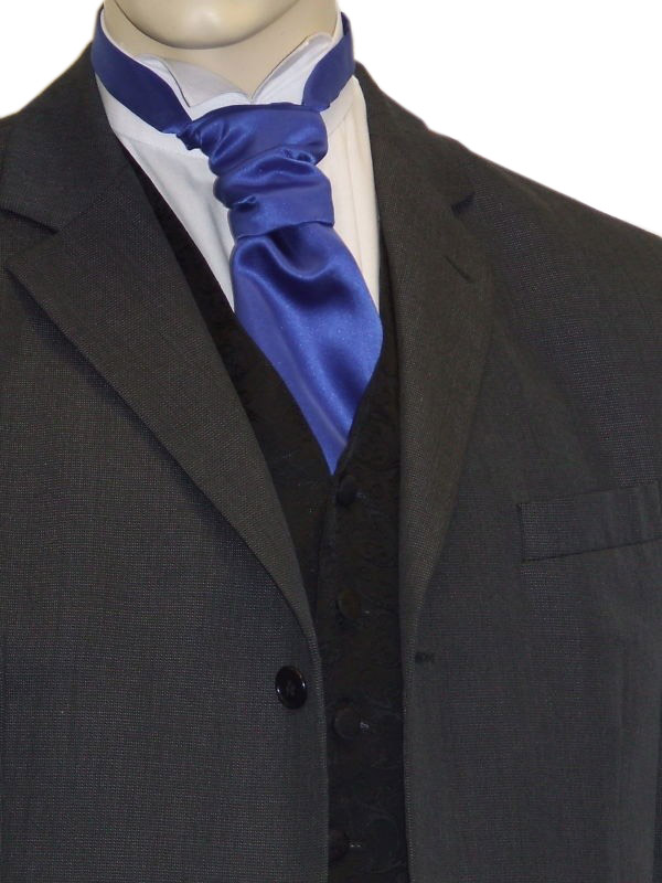 Royal Blue Satin Cravat
