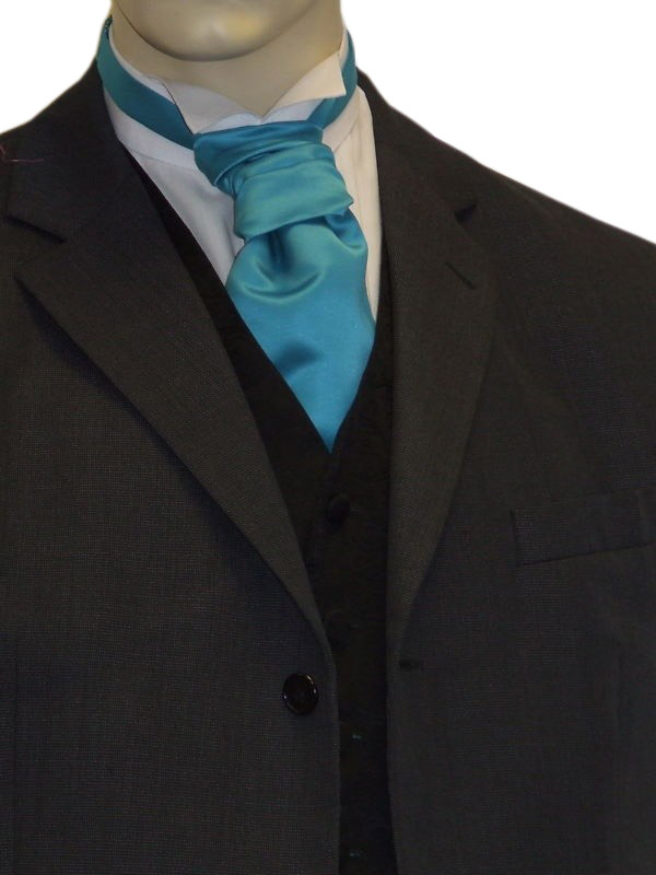 Teal Satin Cravat
