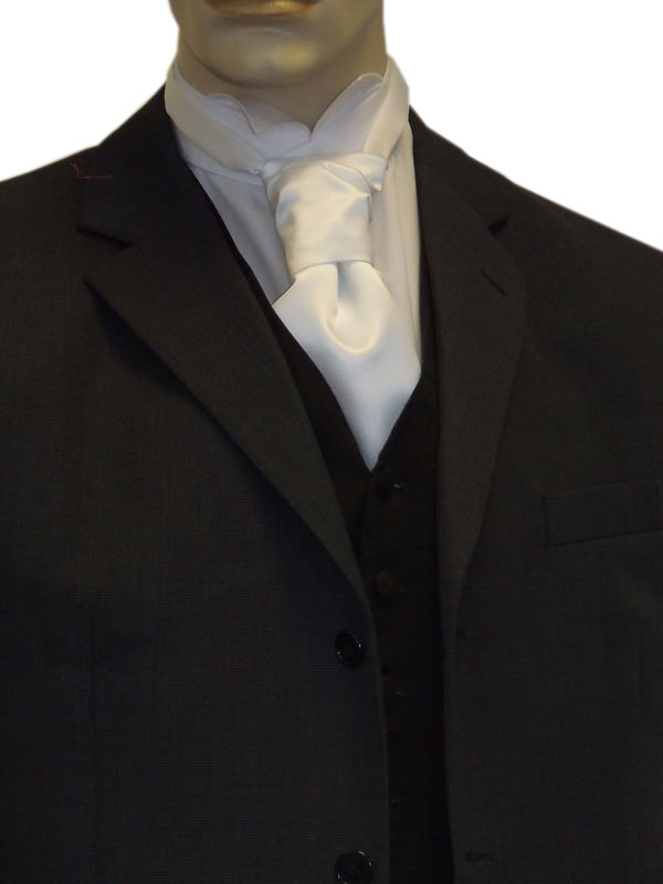 White Satin Cravat