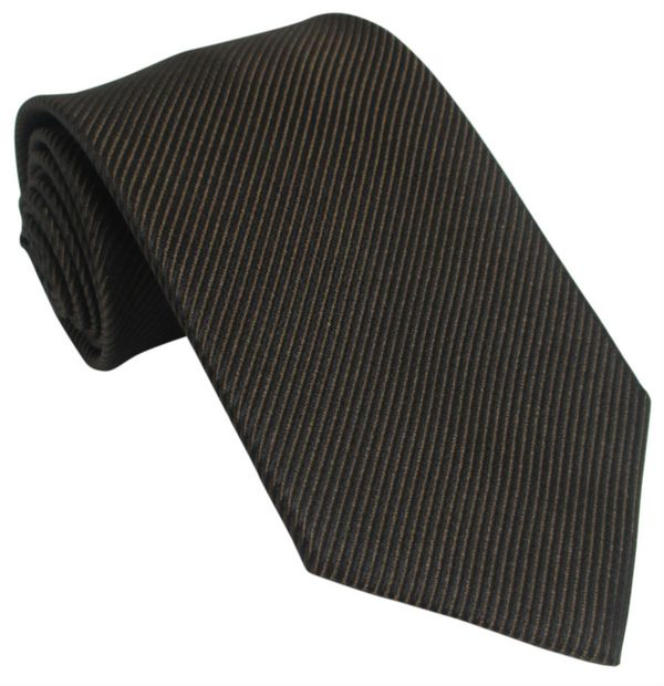 Plain Brown Silk Tie