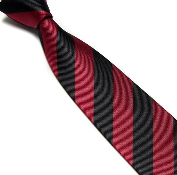 Red and Black Striped Club Tie