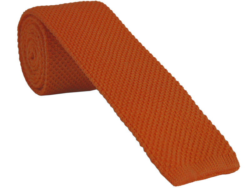 Burnt Orange Knitted Tie